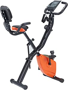 YOLENY Exercise Bike,Indoor Cycling Bike, Adjustable Stationary Bicycle with Comfortable Seat Cushion,LCD Monitor& Ipad Mount,for Home Gym Cardio Fitness