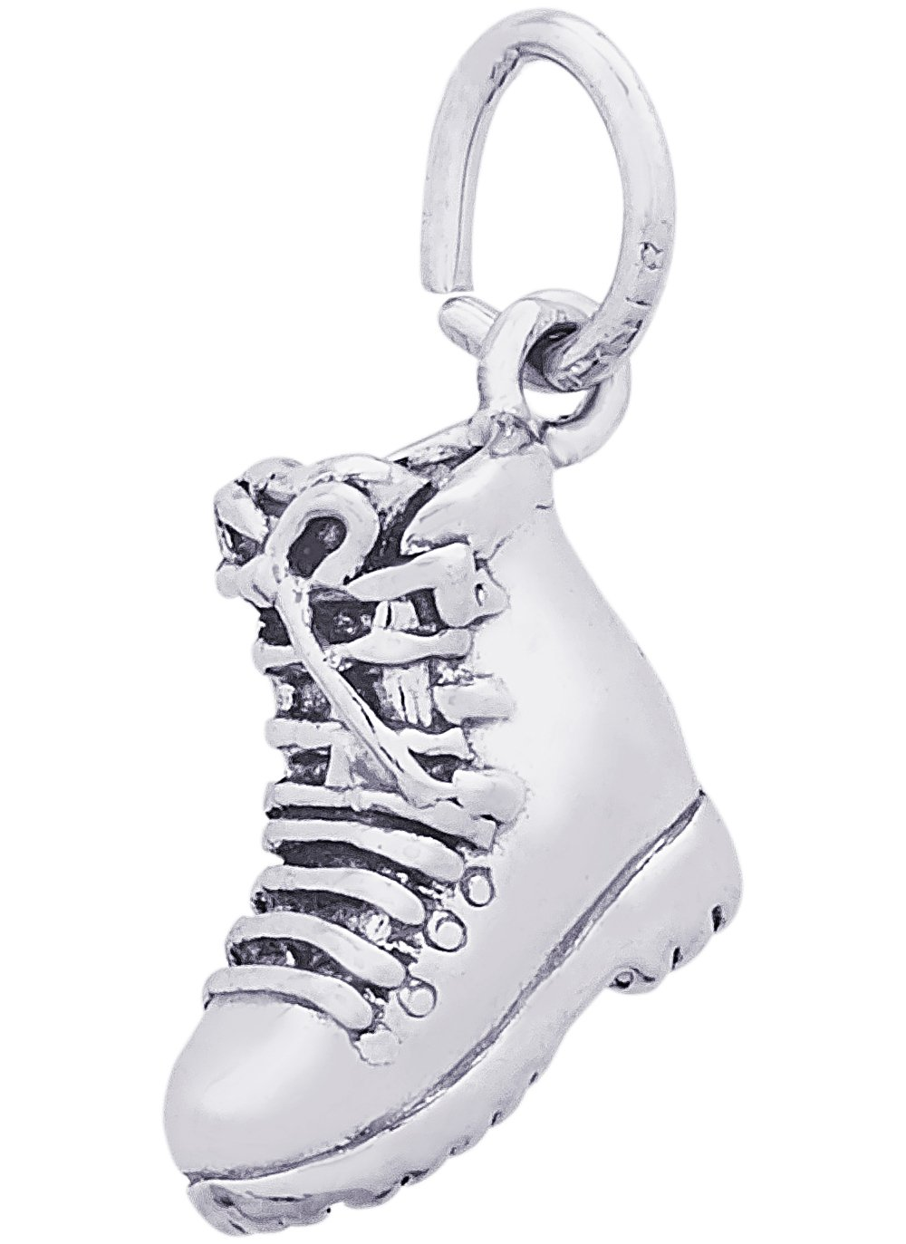 Rembrandt Charms Sterling Silver 3-D Hiking Boot Charm (11 x 12 mm)