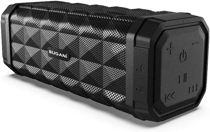 Bluetooth Speaker, Bugani M99 Portable Bluetooth Speaker 5.0, 100ft Wireless Range, 16w Stereo Sound