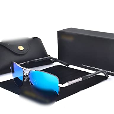 Amazon.com: Retro Rectangle Polarized Sunglasses Mirror Sun ...