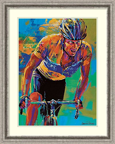 Framed Wall Art Print Lance Armstrong 7X Tour de France Champion by Malcolm Farley 24.50 x 30.62
