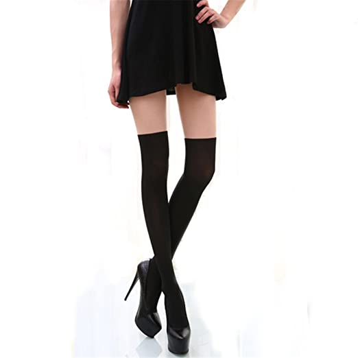 18786b1c6414e Phillip Dudley Sexy Women Tights Over Knee Double Stripe Sheer Black  Temptation Sheer Pantyhose Tights Beige
