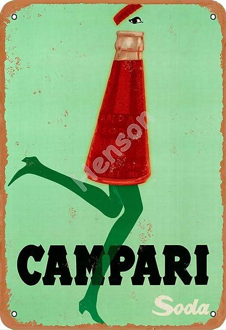 NOT Campari Soda Funny Segno Ferro Pittura Stagno Muro personalit/à Decorativa in Ferro retr/ò per Cucina Domestica Bar Regalo Garage Garage Hotel Club Office