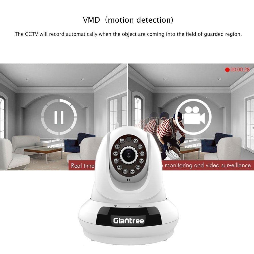 Giantree 720P Wireless IP Camera, Baby/Pets Monitor, WiFi Security  Surveillance Camera, White