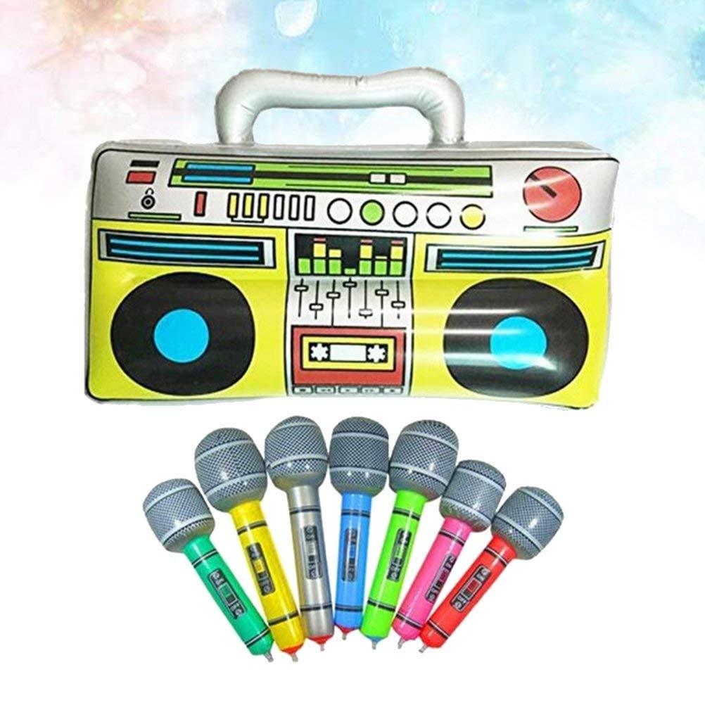 Sky-Grow Caja Inflable para radios de PVC y micrófonos hinchables ...