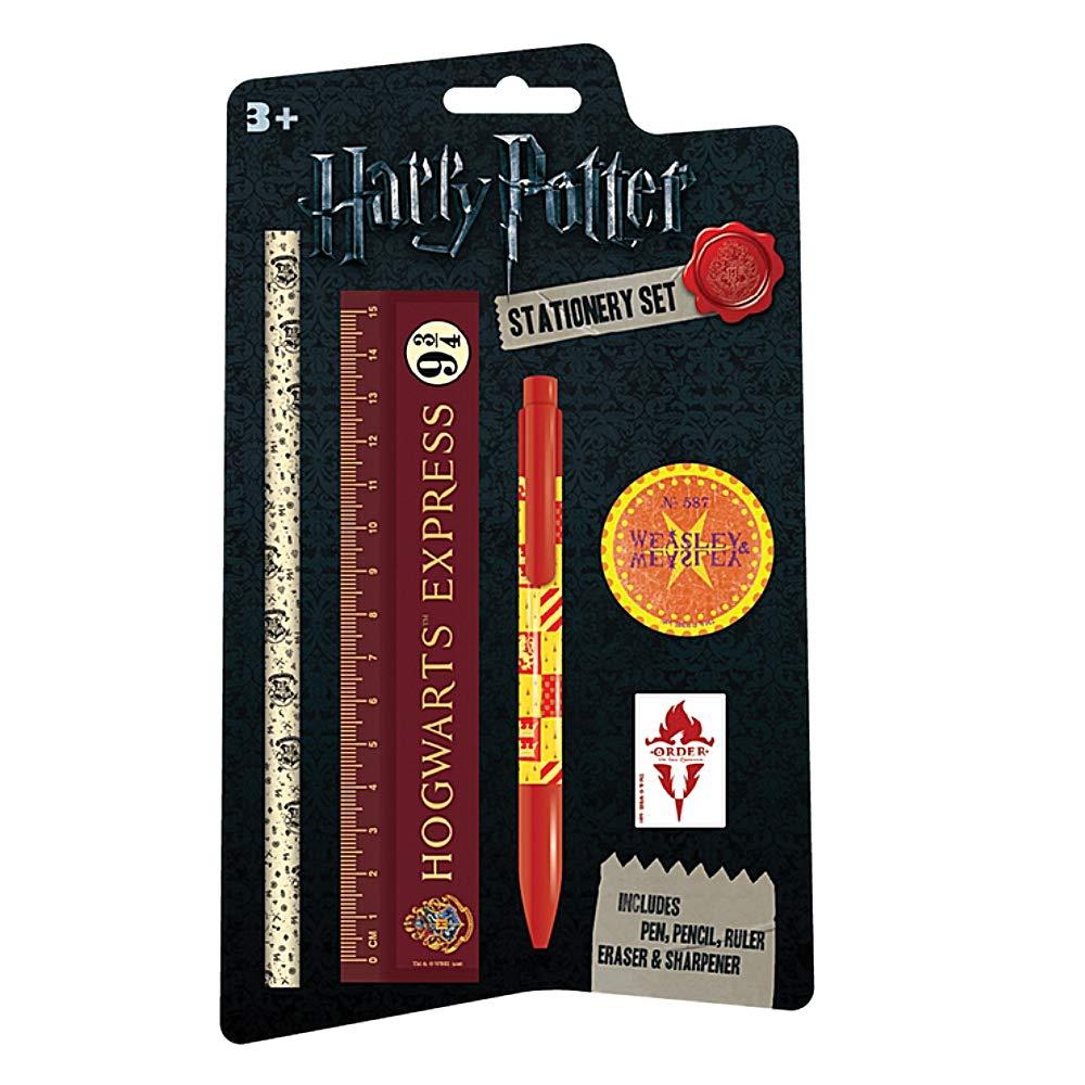 Echte Harry Potter Briefpapier Set Bleistift Radiergummi Lineal Spitzer Hogwarts Pritties Accessories
