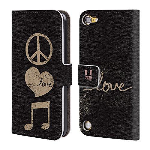 Head Case Designs Pace E Amore All About Music Cover a portafoglio in pelle per iPod Touch 5th Gen / 6th Gen