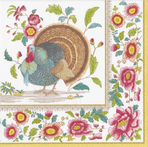 Thanksgiving Napkins Thanksgiving Table Decorations Turkey Decorations Paper Lunch Napkins Pk 40 (Thanksgiving Napkins Lunch)