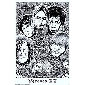 Amazon Com 24x36 Forever 27 Janis Joplin Jim Morrison
