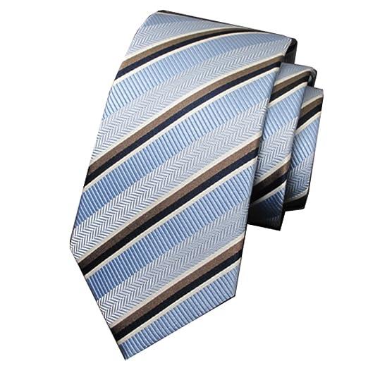 Y-WEIFENG Corbatas de Hombre Versión Estrecha de Seda Corbata de ...