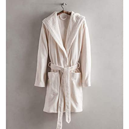 Image Unavailable. Image not available for. Color  Vivaterra Short Carded  Cotton Robe ... e9dc4d0da