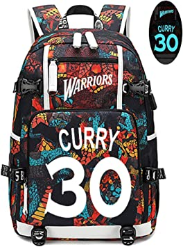 Lorhs store Jugador de Baloncesto Stephen Curry Mochila Luminosa ...