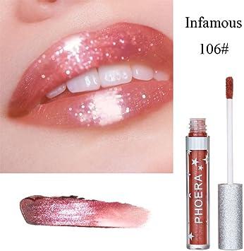 Lápiz labial brillante con purpurina, Hongxin maquillaje diamante ...