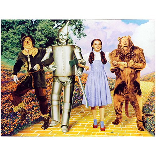 The Wizard of Oz Dorothy The Scarecrow The Tin Man and Cowardly Lion Walking Down Yellow Brick Road 8 x 10 (Walking Tin)