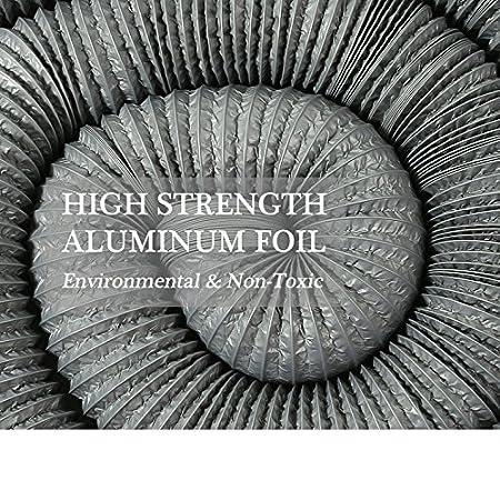 Climatizaci/ón /ø125mm*5m, gris Secadora Hon/&Guan Tubo de Manguera de Ventilaci/ón Tubo Aire Flexible di Aluminio /& PVC para Extractor de Aire
