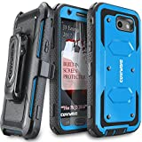 #5: Samsung Galaxy J3 Emerge/J3 Prime/J3 Eclipse/Express Prime 2/Luna Pro/Amp Prime 2/Sol 2 Case, COVRWARE [Aegis Series] Built-in [Screen Protector] Heavy Duty Rugged Holster [Belt Clip][Kickstand] Blue