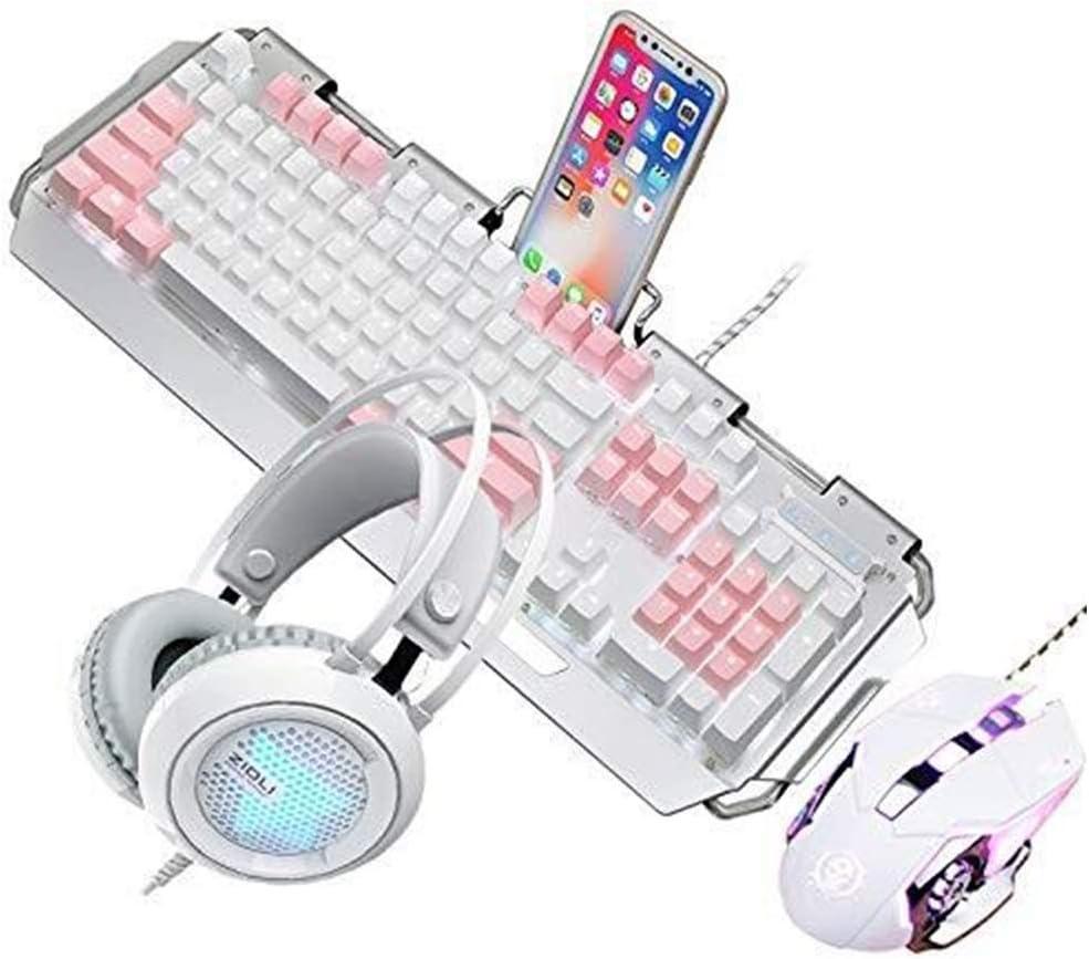 Lflzcp Keyboard,Wired Gaming Keyboard Waterproof and Comfortable Keyboard for Desktop Computer Notebook