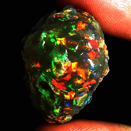 100/%Natural Ethiopian Fire Opal Play Of Color Rough Specimen Gemstone