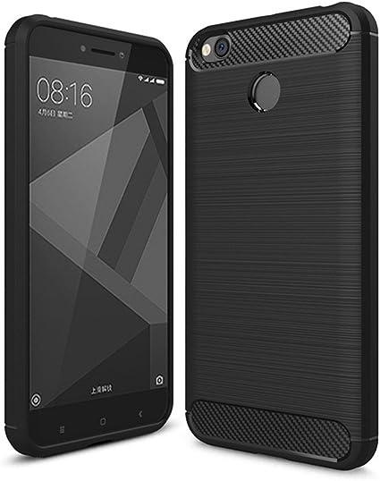 i-comercio Carbon Funda Xiaomi Redmi 4X Carcasa TPU Gel Silicona ...