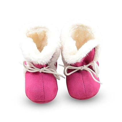ESHOO niña de amarre patucos de invierno para bebé recién nacidos y ...