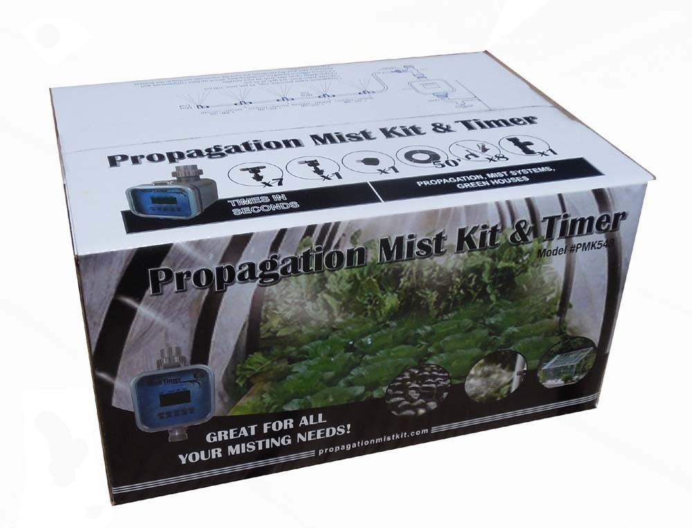 Greenhouse-Propagation Mist Kit with Mist Timer that Times in Seconds