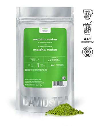 DAVIDsTEA Matcha Matsu Green Tea Powder, Premium Stoneground ...