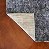 10 x 14 Thick Felt and Rubber Rug Pad- Non Slip Rug Pad- 3/8 inch Thick Felt Rug Pad w/ Natural Rubber Backing- Anchor-Grip 30 ®