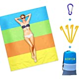 BERTER Beach Blanket, 79''×83'' Beach Mat Waterproof for 4-6 Adults, Oversized Camping Blankets, Portable Picnic Blankets, Sa