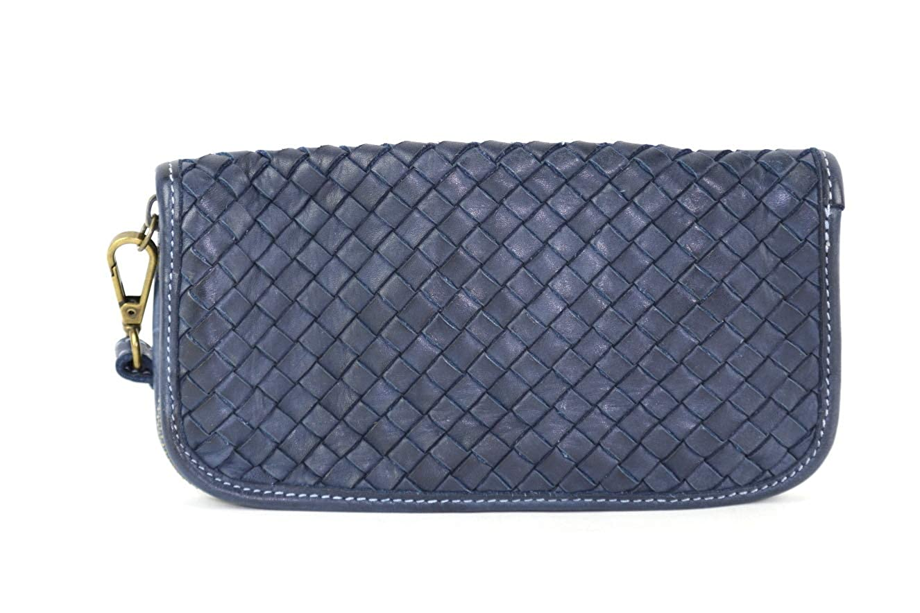 bluee Men's Women's Italian Leather Wallet