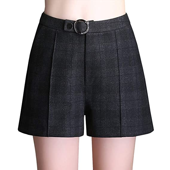 fcb3bf193c DISSA F637 Shorts Pantalons Court Taille Haute Grande Taille Mode Femme ,Noir,3XL,