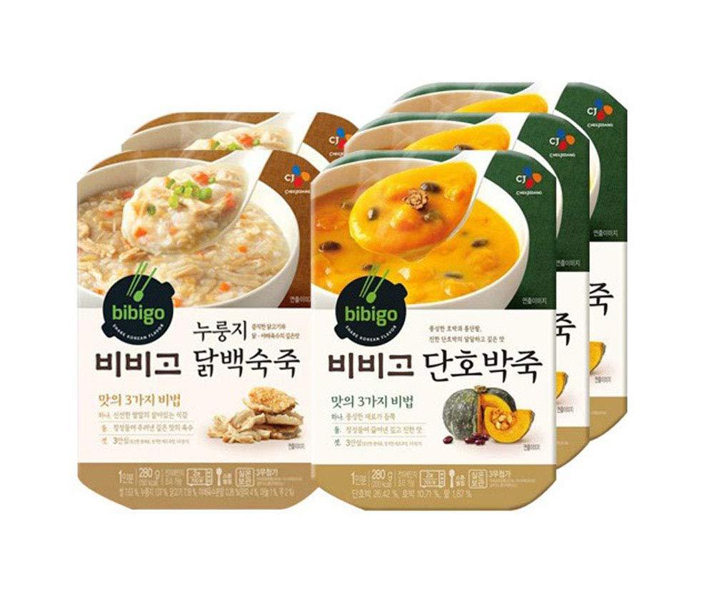 [ 5 Packs ] CJ Bibigo Korean Sweet Pumpkin Porridge ???? 280g x 3, Crispy Rice Crust Chicken Porridge ??????? 280g x 2