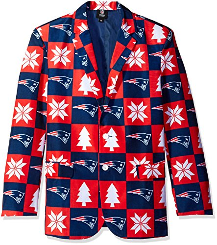 New England Patriots Patches Ugly Business Jacket - Mens Size 46 ()