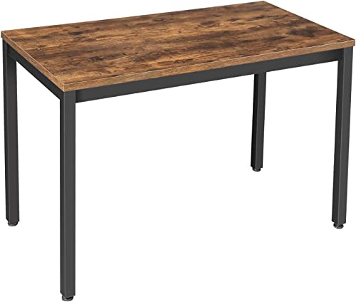 VASAGLE ALINRU Computer Desk, Writing Desk with Stable Metal Frame, 47.2 Inch Multifunctional Table in Home Office, Living Room, Study, Industrial, Rustic Brown ULWD64X