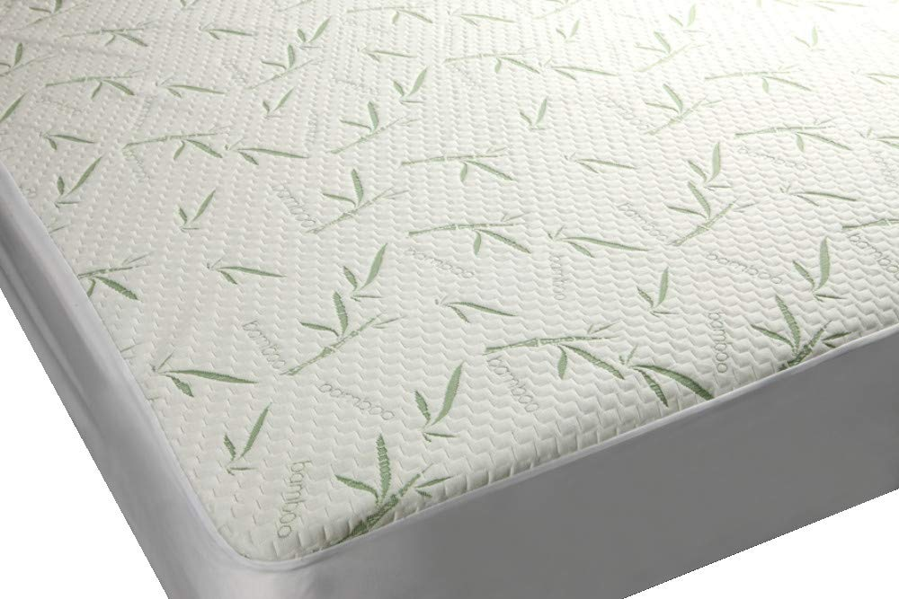 Mezzati Bamboo Premium Plush Mattress Protector - Soft, Quiet, Comfortable Topper, Cover - Hypoallergenic, Deep Fitted Pocket (Queen Size)