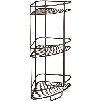 Interdesign axis free standing bathroom or - Free standing corner bathroom shelves ...