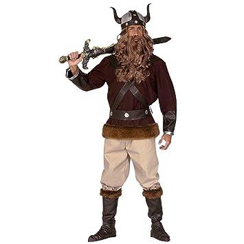 Disfraz de vikingo o bárbaro traje guerrero: Amazon.es ...