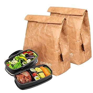 Hangnuo Wiederverwendbar Isoliert Braun Papier Lunch Taschen ...