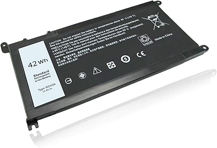 WDX0R Laptop Battery for Dell Inspiron 15 5567 5568 7560 5567 7579 7573 Inspiron 13 5368 5378 7368 7378 17 5765 5767 5770 Series WDXOR FC92N 3CRH3 T2JX4 CYMGM Replacement Battery