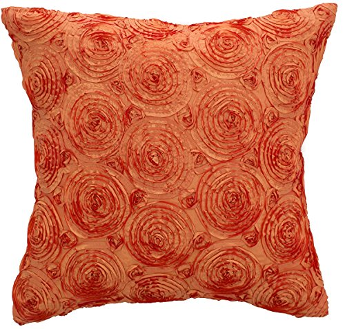 Avarada solid floral bouquet throw pillow cover decorative for Sofa cushion covers 24x24