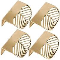 4 stks Keukenkast Deuren Handgrepen - Slaapkamer Lade Trekt Bladvorm Messing Gouden Kast Trekt Meubelgrepen Keuken…