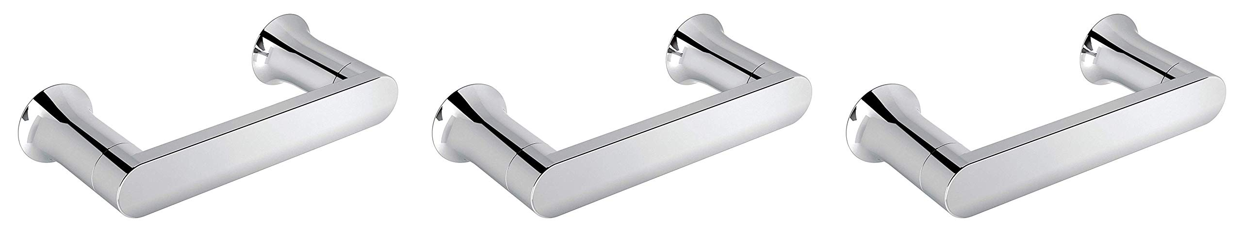 Moen BH3808CH Genta Pivoting Toilet Paper Holder, Chrome (Тhrее Расk)
