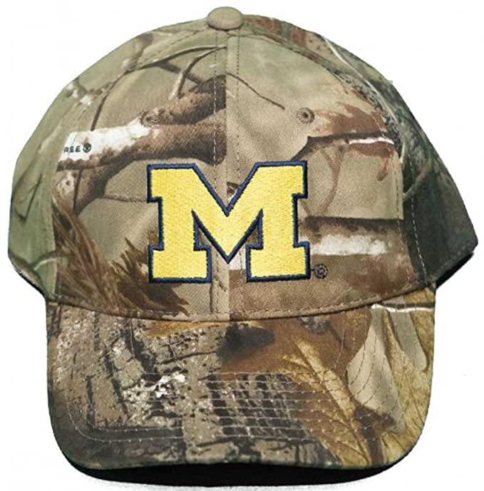 meet b66f9 a3b15 Image Unavailable. Image not available for. Color  University Michigan  Wolverines Buckle Back Hat Woodland Camo Cap