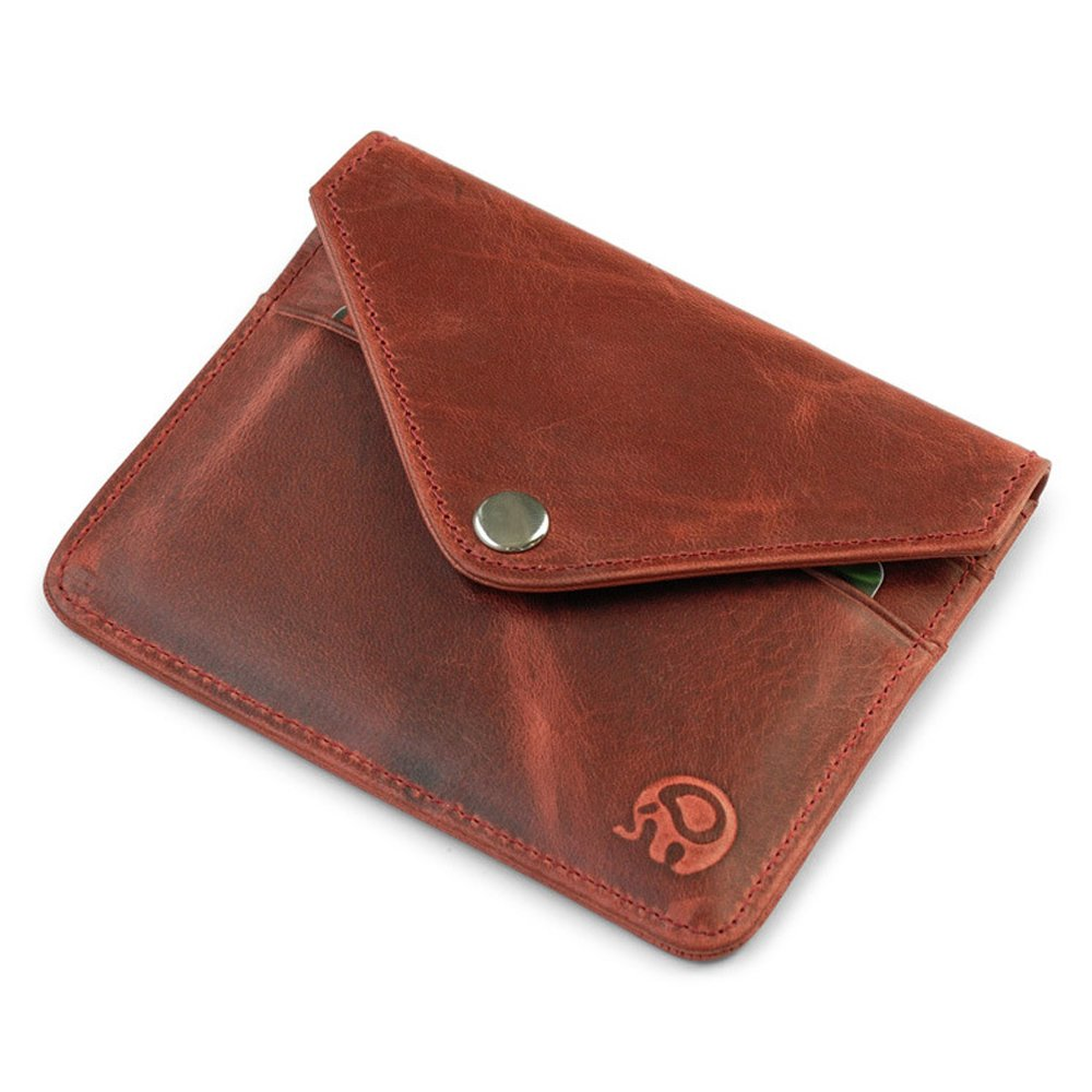 Mens Leather Wallet Credit CardCase Multi-function package Compact