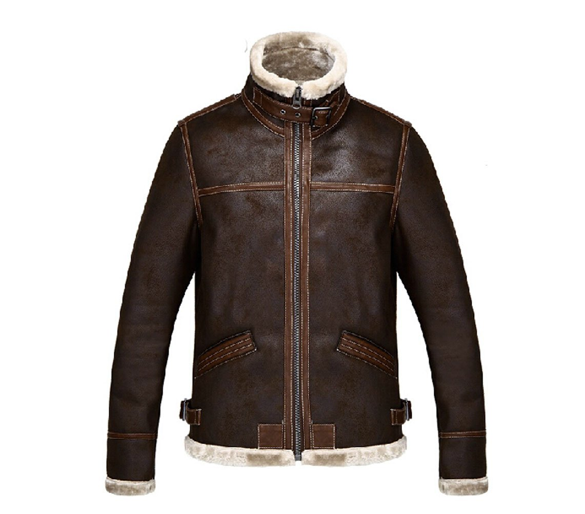 Koveinc Resident Evil 4 Leon Kennedy Men's PU Leather Jacket-Male-XXX-Large