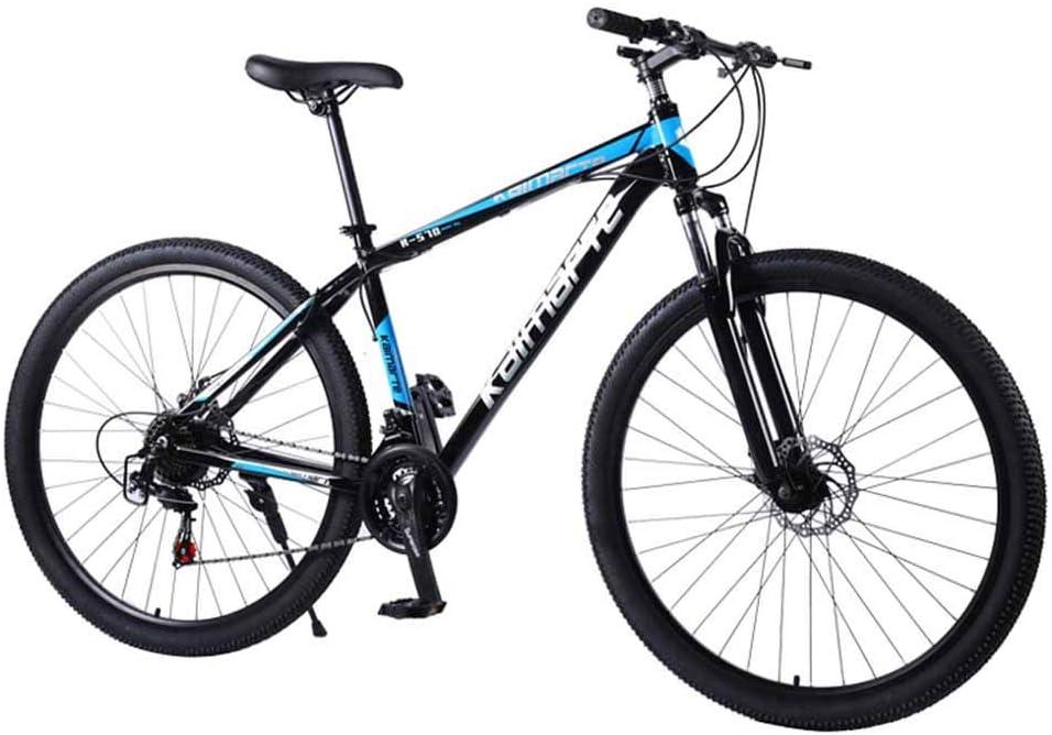 XER Bicicleta de montaña rígida, Rueda de radios de Acero de Alto Carbono de 29 Pulgadas, Horquilla de suspensión Delantera de 24 velocidades Totalmente Ajustable,Red,27speed: Amazon.es: Hogar