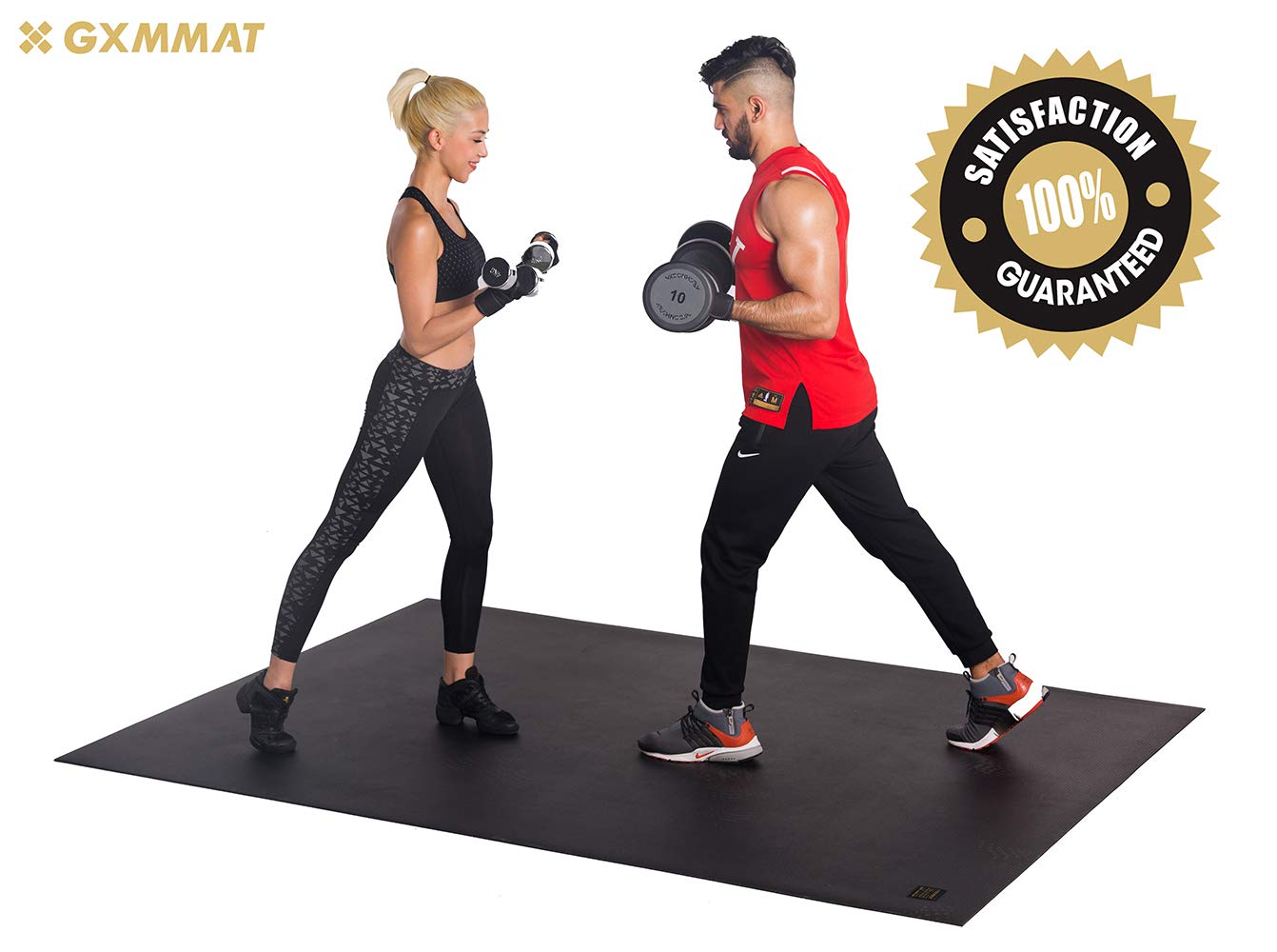 Gxmmat Extra Large Exercise Mat 6'x8'x7mm for Home Gym Flooring, Ultra Durable Cardio Workout Mats Non-Slip,Non-Toxic, Ideal for MMA, Plyo, Jump, All-Purpose Fitness by Gxmmat (Image #9)