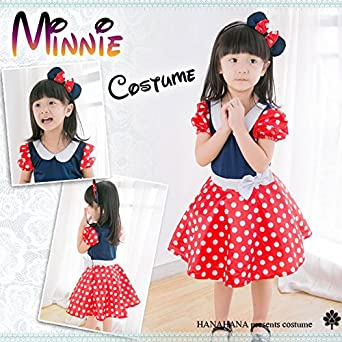 b40d4eea76084 M(110-120cm)   ハロウィン コスプレ 子供 ミニー サンタ 衣装 コスチューム 子供服