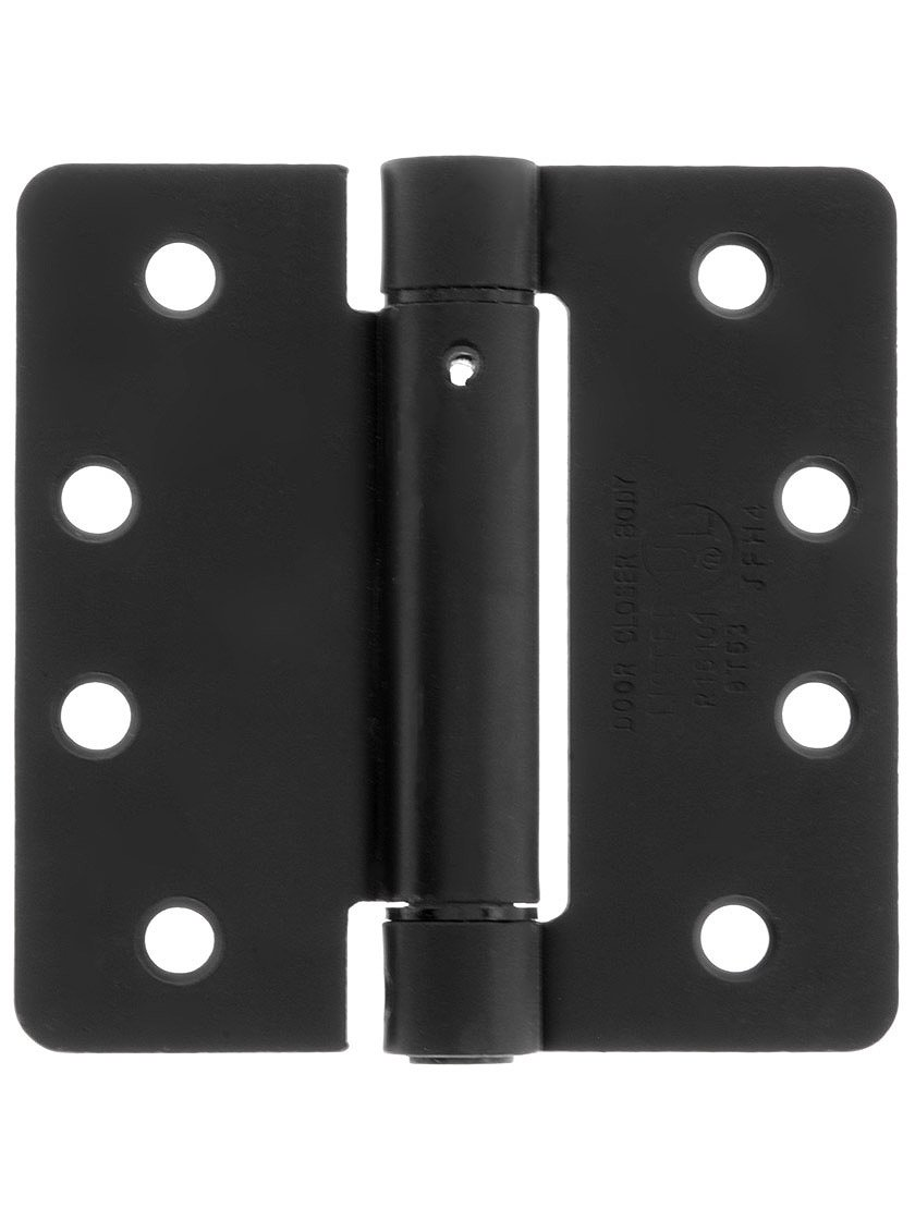 4'' Spring Hinge With 1/4'' Radius Corners Matte Black