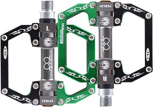 Pedales de Bicicleta Plataforma Plana 9/16 Teniendo de Aluminio ...