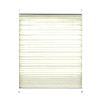 Plissee auf Maß Vanille Maßanfertigung für Fenster Montage in Glasleiste
